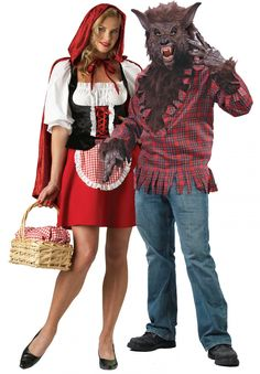 Found our Halloween costumes for Mike will love it! Little Red Riding Hood and Big Bad Wolf Halloween Costumes Wolf Halloween Costume, Fox Costume, Creative Halloween Costumes, Couple Halloween, Halloween Kostüm, Halloween Makeup, Clever Costumes, Funny Couple Costumes, Best Couples Costumes