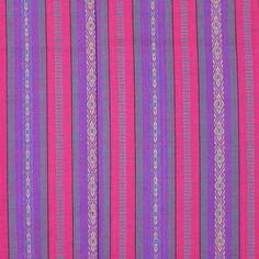 Cotton Fashion YarnDyed Fabric Stripes Pink by DartingDogFabric