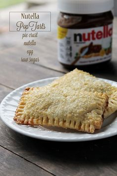 Homemade Nutella pop tarts!
