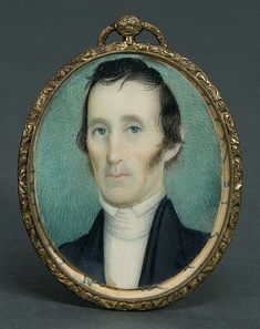 Miniature oval portrait of Rev Washington Thatcher