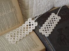 Hardanger Embroidery Bookmarks - Set of Two