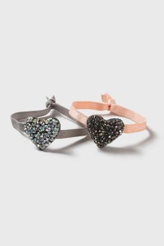 Heart Shaped Encrusted Hair Bands