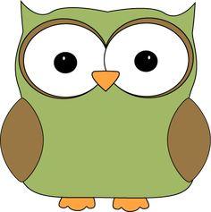cartoon owl coloring pages to print | Cartoon Owl Clip Art Image - green cartoon owl with big eyes.