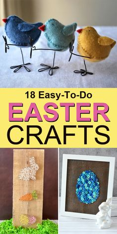 Looking for easy easter crafts that the kids can do with you? These fun projects are ideal for crafters of all ages and skill levels!