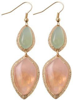 Bijou Brigitte gemstone earrings - Pastel Rose