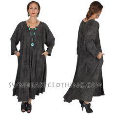 DAIRI FASHIONS JUNO GRAY DRESS CUT ON THE BIAS BOHO HIPPIE CHIC SML-6X #DAIRIFASHIONS #DRESS
