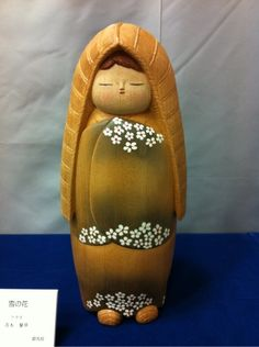 創作こけし美術展in渋川 雪の花 Kokeshi creative art exhibition in Shibukawa