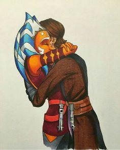 Ahsoka and Anakin Anakin Skywalker And Ahsoka Tano, Anakin Vader, Anakin X Ahsoka, Darth Maul, Star Wars Love, Star Wars Fan Art, Star Wars Comics, Star Wars Humor, Star Wars Rebels