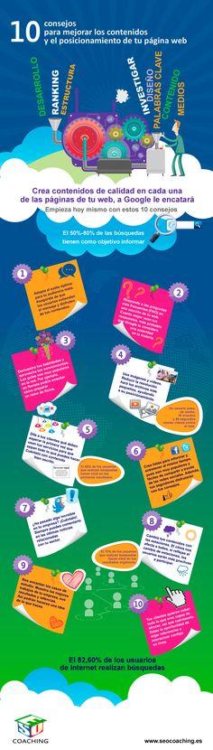10 consejos para que tus contenidos le gusten a Google #infografia