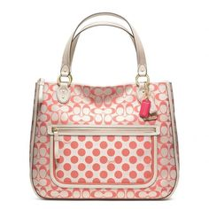 Coach Poppy Signature C Dot Hallie Tote ($198) ❤ liked on Polyvore