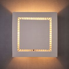 Square Clean Sconce lighting for the Living Room. Flush Mount Lighting, Sconce Lighting, Brass Ceiling Light, Ceiling Lights, Ceramic Wall Lights, Dining Room Lighting, Dining Rooms, Modern Wall Sconces, Wet Wipe