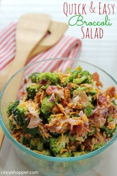 Creamy Broccoli Salad We have a graduation party we are attending tonight so I whipped up this Easy Broccoli Salad Recipe Food For Thought, Easy Broccoli Salad, Broccoli Recipes, Brocoli Salad Recipe, Chicken Broccoli, Food Dishes, Side Dishes, Cooking Recipes, Healthy Recipes
