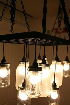 DIY Mason Jar Chandeliers: Easy Combo & Great Results   Apartment Therapy