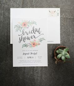 Boho Bridal Shower Invitation | Fine and Dandy Paperie | Edelle Photography