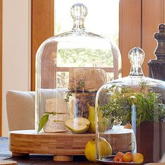 Glass Cloche - Delectable food and décor are eloquently presented beneath our classic Glass Cloche.