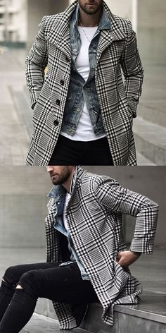 Men winter fashion 818458932270609113 - Men's casual and comfortable coats for fall and winter, vintage style and modern fashion style you can option. 2020 fall winter fashion trends clothes, shop now! Source by Plaid Fashion, Look Fashion, Autumn Fashion, Modern Fashion, Mens Fashion, Suit Fashion, Black Men Winter Fashion, Fashion Spring, Trendy Fashion