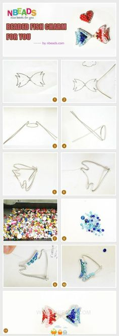 BEADED wire fish tutorial