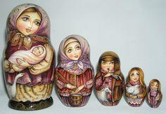 russian babushka | Russian Legacy | Folk Art - Nesting Dolls (Matryoshka) - Exclusive ...