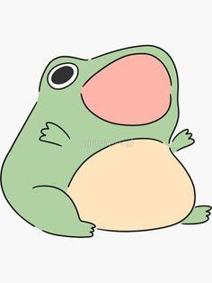 Cute Little Drawings, Cute Animal Drawings, Cute Drawings, Drawing Sketches, Piskel Art, Frog Drawing, Frog Pictures, Frog Art, Cute Frogs