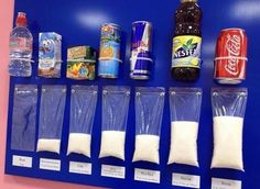 Quantidade de açúcar em bebidas industrializadas