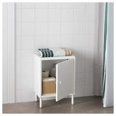 IKEA DYNAN Cabinet with door White cm You quickly create a personal storage solution with several cabinets since they are easy to assemble – and. Ikea Sinks, Ikea Bathroom, Small Bathroom, Bathrooms, Bathroom Renovations, Mirror Cabinets, Base Cabinets, Cabinet Doors, White Cabinet