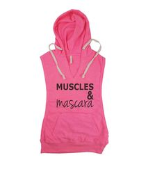 Muscles and Mascara Sleeveless Hoodie. by StrongGirlClothing Sleeveless Hoodie, Tank Shirt, Hoodies, Sweatshirts, Athletic Tank Tops, Trending Outfits, My Style, Gym Stuff, Workout Clothing