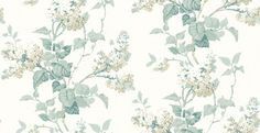 Lilac Blossom Aqua/ Ivory (BW45072/4) - G P & J Baker Wallpapers - A stunning and elegant, hand painted effect floral print in a beautiful aqua and ivory colourway. Other colourways available. This is a paste-the-wall product. Please request a sample for true colour match.