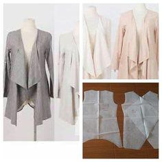 Outerwear pattern Order via line : @modelliste (with @) #modellistepattern #outerweardresspattern #outerwear #outerwearpattern #cardiganpattern #cardigan