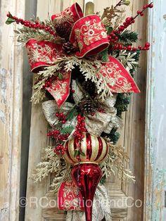 Christmas Swag Door Swag Door Decor Wreath Christmas