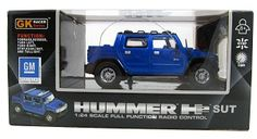 Hummer H2 SUT Full Function RC Radio Remote Control Car 1:24 Scale