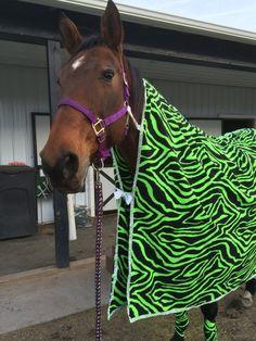 Custom Fleece Coolers for your horse. by DiamondHorseDesigns