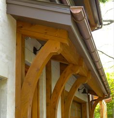 Nashville Traditional Exterior Design Ideas, Pictures, Remodel and Decor This style bit heavy looking, however like that has a gutter Craftsman Exterior, Modern Farmhouse Exterior, Craftsman Style, Craftsman Porch, Roof Design, Exterior Design, House Design, Exterior Paint, Door Overhang