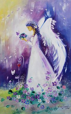 "Limited angel art photo ""to the love"" , modern angel painting . Angel Drawing, I Believe In Angels, Angel Pictures, Angels In Heaven, Guardian Angels, Angel Art, Painting Inspiration, Art Images, Watercolor Art"