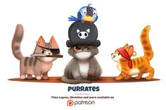 Day 1383. Purrates by Cryptid-Creations.deviantart.com on @DeviantArt