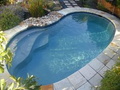 beautiful mini pools for small backyards with nice oval shape decor