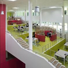 Look at this multi-story learning space in the Netherlands!