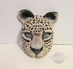 Jaguar cat costume mask Masquerade mask animal mask jungle