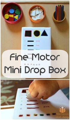 Fine Motor Mini Drop Box Racheous - Lovable Learning