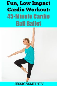 fun, low impact cardio workout is one you'll actually want to do!This fun, low impact cardio workout is one you'll actually want to do! Cardio Barre, Cardio Abs, Pilates, Low Impact Workout, Fun Workouts, At Home Workouts, Body Workouts, Workout Ideas, Begginer Workout