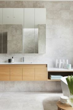 Armoire De Toilette Ikea En Bois Clair Et Meuble Salle Bain Miroir Schrank Zimmer