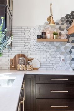 White handcrafted subway tile | Mercury Mosaics | construction2style kitchen remodel