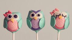 Owl Cake Pop Tutorial                                                                                                                                                                                 More