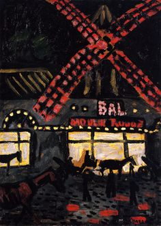 The Athenaeum - The Moulin Rouge, Night (Auguste Chabaud - )