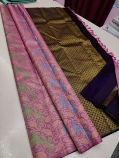 Ping me in 9171814428 for price details Pure kanchipuram silk sarees handwoven with 2 g pure jari without border brocade pattern Pure Silk Sarees, Hand Weaving, Sari, Pure Products, Quilts, Blanket, Pattern, Fashion, Saree
