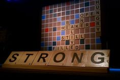 good idea for a sermon series display. A new word each week playing off each other according to the message