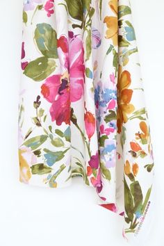 Paint Palette, Punch-Beautiful floral fabric for throw pillows
