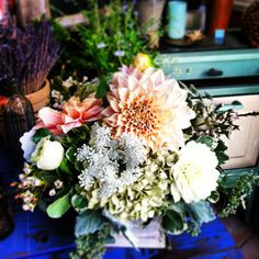 Birthday bouquets from The Floral Loft.