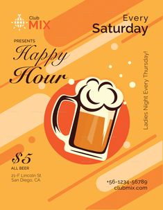 Happy Hour Flyer Template Lovely Happy Hour Flyer Design Template In Psd Word Publisher Illustrator Indesign Event Template, Flyer Design Templates, Menu Design, Flyer Template, Tea Party Invitations, Vintage Invitations, Custom Business Cards, Business Card Design, Business Case Template