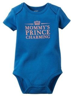 77a15d781 Carter's Baby Clothing Outfit Boys Prince Charming Bodysuit Blue NB Baby  Boy Outfits, Toddler Outfits