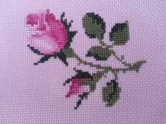 This Pin was discovered by Sev Cross Stitch Rose, Cross Stitch Borders, Cross Stitch Flowers, Cross Stitch Embroidery, Cross Stitch Patterns, Embroidery Fashion, Bargello, Small Flowers, Crochet Stitches